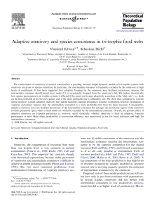 Adaptive omnivory and species coexistence in tri