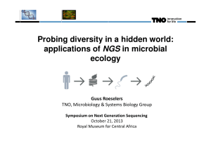 Probing diversity in a hidden world: applications of NGS in