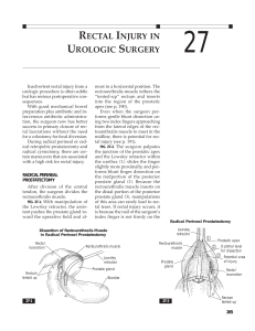 rectal injury in urologic surgery