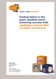 Finding talent in the giant `goldfish pond`: achieving success - cut-e
