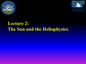Lecture 2: The Sun and the Heliophysics