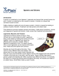Sprains and Strains - Patient Education Institute