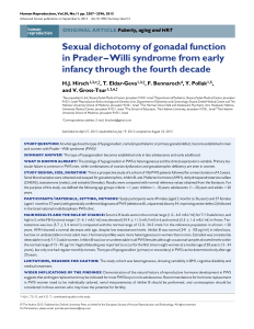 Sexual dichotomy of gonadal function in Prader–Willi syndrome from