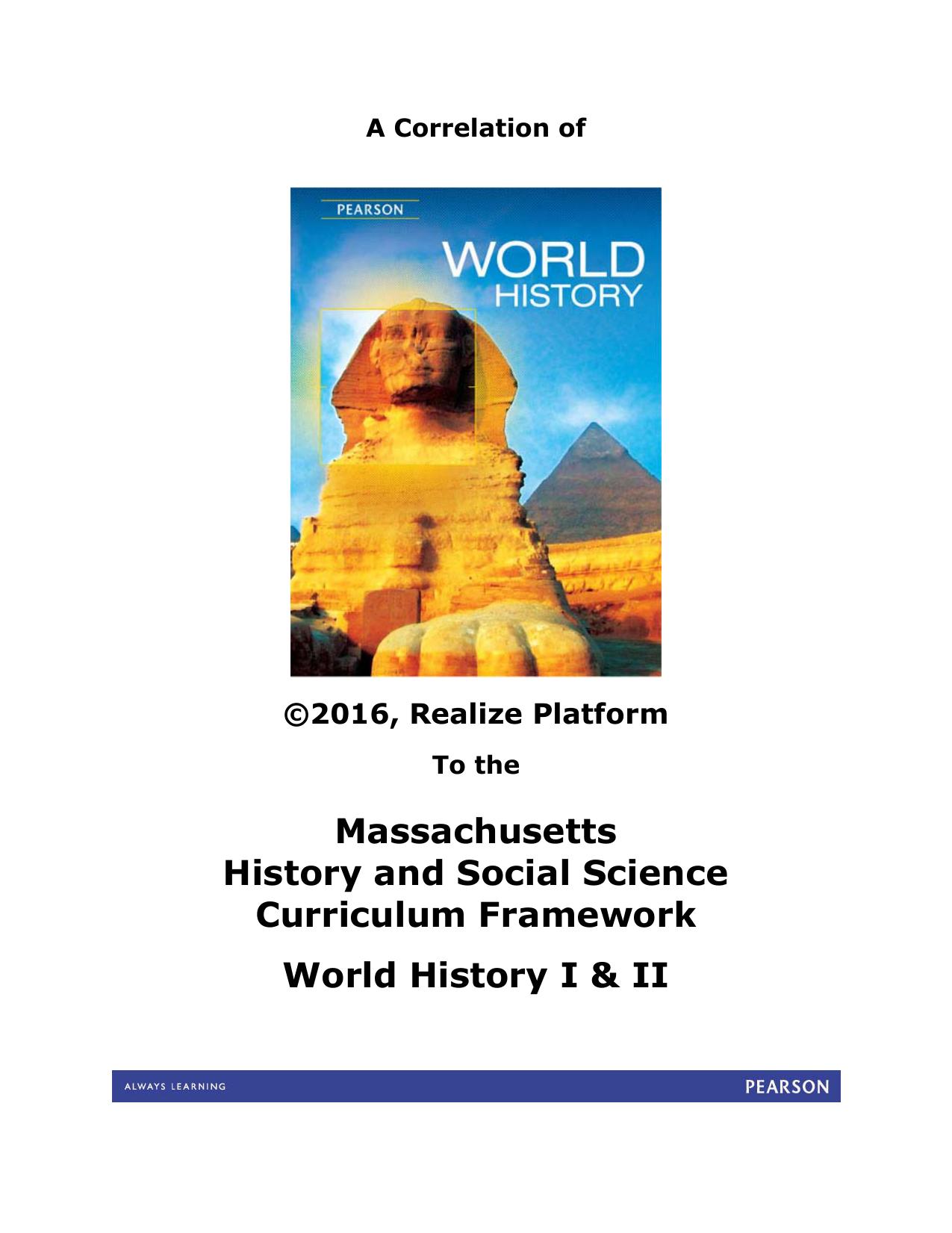 Pearson World History, Realize Platform