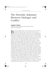 The Deendar Anjuman: Between Dialogue and Conflict