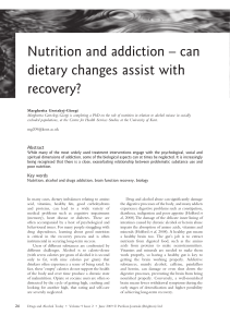 Nutrition and addiction – can dietary changes assist with recovery? [3]