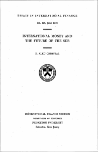 international money and the future of the sdr