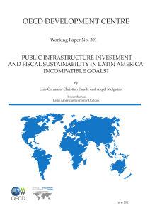 Public infrastructure investment and fiscal sustainability in Latin