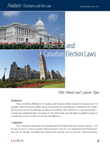 Americanand CanadianElection Laws