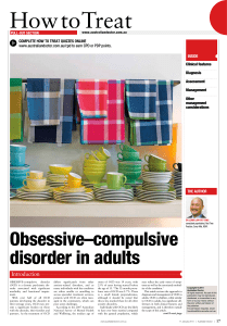 Obsessive–compulsive disorder in adults