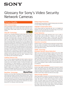 Glossary for Sony`s Video Security Network Cameras