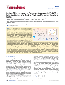 Design of Thermoresponsive Polymers with