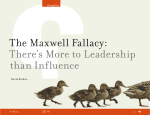 The Maxwell Fallacy: There`s More to Leadership than Influence