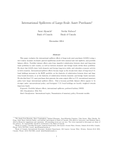 International Spillovers of Large