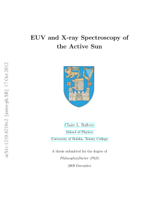 EUV and X-ray Spectroscopy of the Active Sun
