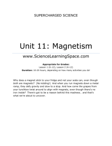 Unit 11: Magnetism - Science Learning Space1