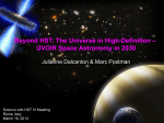 Beyond HST: The Universe in High