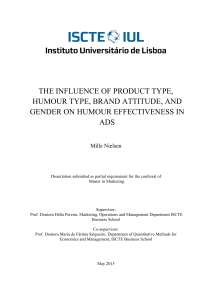 the influence of product type, humour type, brand attitude, and