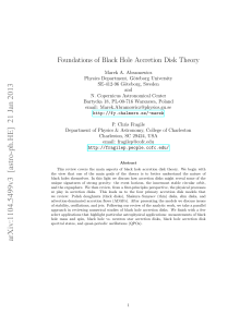 Foundations of Black Hole Accretion Disk Theory