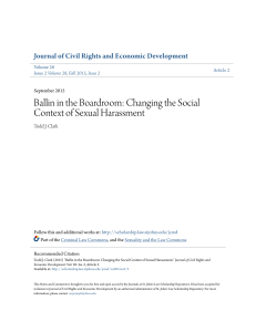 Ballin in the Boardroom: Changing the Social Context of Sexual