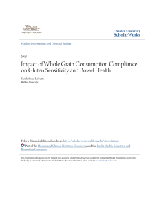 Impact of Whole Grain Consumption Compliance on