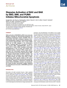 Stepwise Activation of BAX and BAK by tBID, BIM, and PUMA