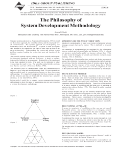 The Philosophy of System Development