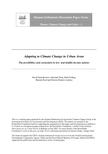 Adapting to Climate Change in Urban Areas - iied iied