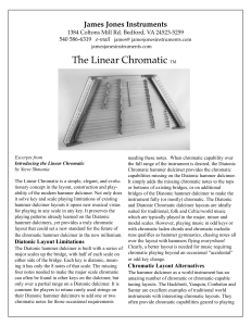 Linear Chromatic Flyer - James Jones Instruments