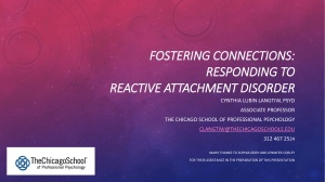 fostering connections: responding to reactive attachment disorder