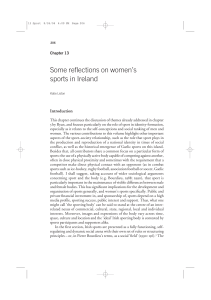 Some reflections on women`s sports in Ireland