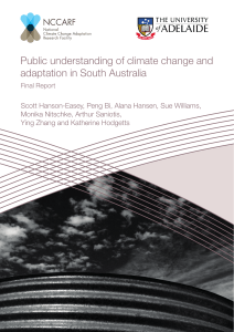 Public understanding of climate change and adaptation