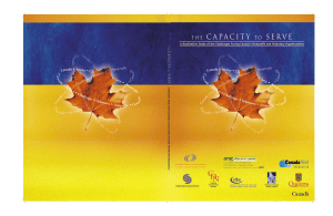 The Capacity to Serve - Voluntary Sector Initiative / Initiative du