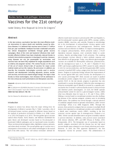 Vaccines for the 21st century