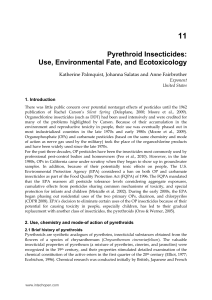 Pyrethroid Insecticides: Use, Environmental Fate, and