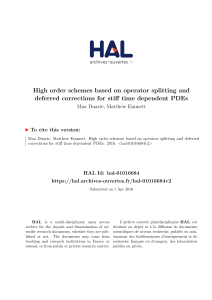 High order schemes based on operator splitting and - HAL