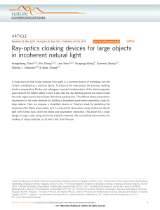 Ray-optics cloaking devices for large objects in incoherent natural light