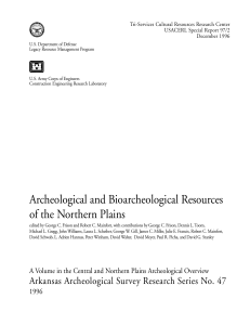 Archeological and Bioarcheological Resources of the
