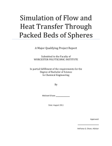 Simulation of Flow and Heat Transfer Through Packed Beds of