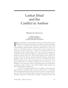 Laskar Jihad and the Conflict in Ambon