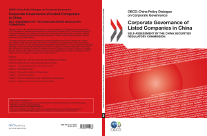 Corporate Governance of Listed Companies in China