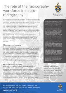The role of the radiography workforce in neuro