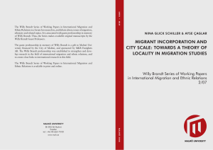 migrant incorporation and city scale: towards a theory of