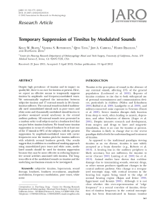 Research Article Temporary Suppression of Tinnitus by Modulated