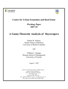 A Game-Theoretic Analysis of Skyscrapers