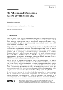 Oil Pollution and International Marine Environmental Law