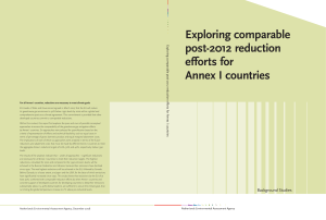 Exploring comparable post-2012 reduction efforts for Annex I