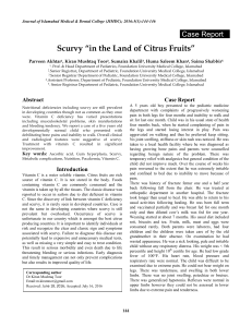 "Scurvy ""in the Land of Citrus Fruits"""