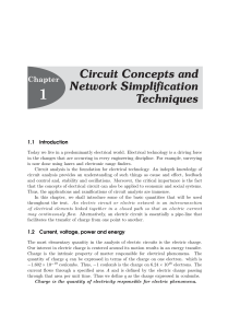 Circuit Concepts and Network Simplification Techniques