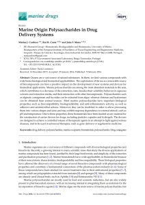 Marine Origin Polysaccharides in Drug Delivery Systems